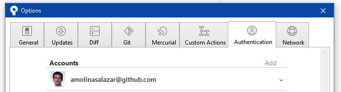 Windows user configuration