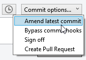 Amend commit